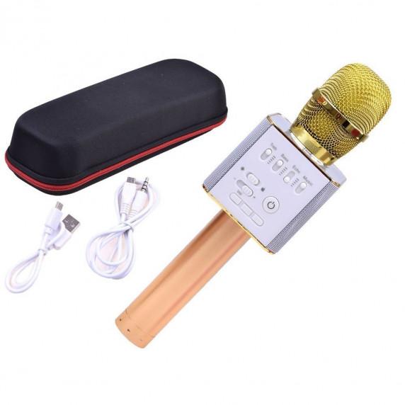 Bezdrôtový karaoke mikrofón Inlea4Fun INOX - zlatý