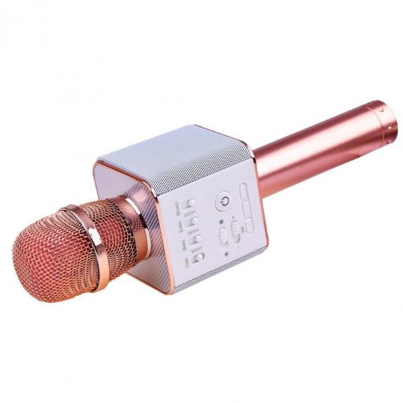 Bezdrôtový karaoke mikrofón Inlea4Fun INOX - rose gold