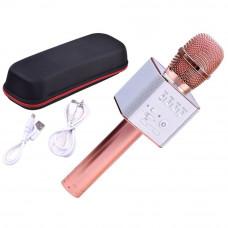 Inlea4Fun Bezdrôtový karaoke mikrofón - rose gold Preview