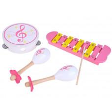 Inlea4Fun MUSIC SET Detské drevené hudobné nástroje 3v1 Preview