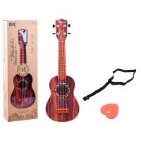 Inlea4Fun Ukulele s remienkom UKULELES MUSICIAN - imitácia dreva