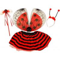 Inlea4Fun Detský kostým Lienka s krídlami
