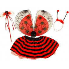 Inlea4Fun Detský kostým Lienka s krídlami Preview