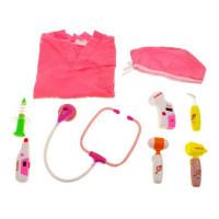 Lekársky kostým so svietiacimi doplnkami Inlea4Fun MEDICAL SET - ružový