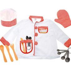Inlea4Fun Detský kostým Šéfkuchár Preview