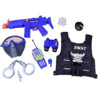 Inlea4Fun Detský kostým Policajt s príslušenstvom