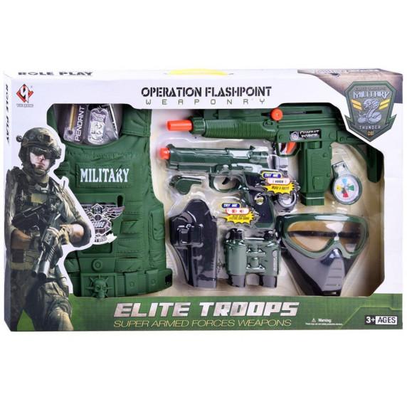 Inlea4Fun ELITE TROOPS Detský kostým Vojak s príslušentsvom