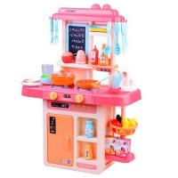 Inlea4Fun IGA Detská kuchynka so svetelnými a zvukovými efektmi so 40 doplnkami - ružová