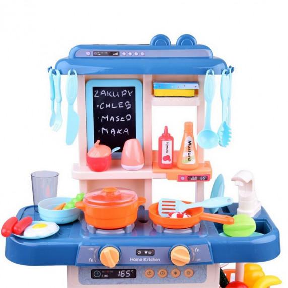 Inlea4Fun IGA Detská kuchynka so svetelnými a zvukovými efektmi so 40 doplnkami - modrá