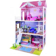Inlea4Fun Drevený domček pre bábiky s LED svetlom Betty Preview