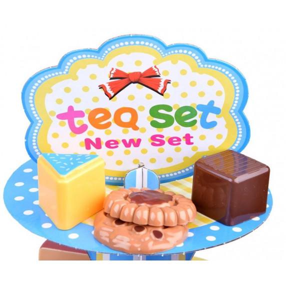 Inlea4Fun Tea Party Stojan na zákusky s doplnkami