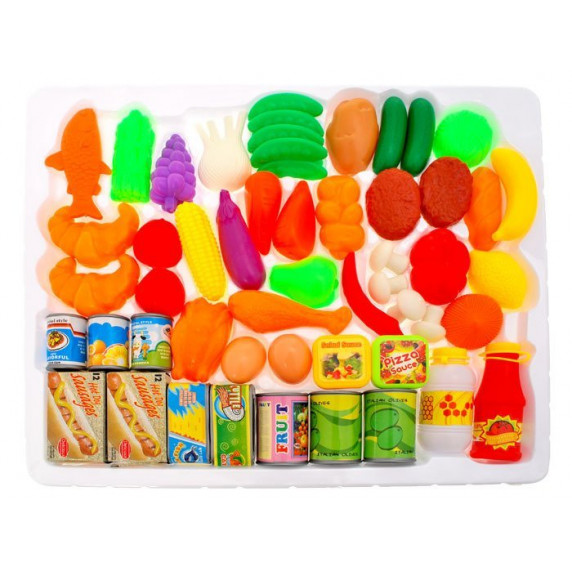 Inlea4Fun FUNNY FOOD Detská sada potravín 52 ks