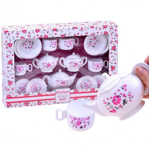 Inlea4Fun detská čajová súprava KITCHEN s 18 doplnkami