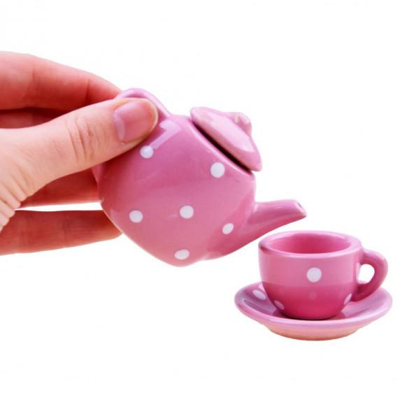 Inlea4Fun detská čajová súprava CERAMIC s 12 doplnkami