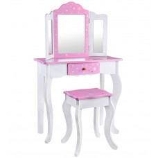 Detský toaletný stolík Inlea4Fun ZA3718 - biely/ružový Preview