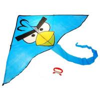 Lietajúci drak Inlea4Fun ANGRY BIRDS - modrý