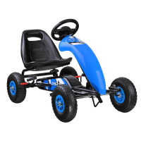 Gokart s pedálmi Inlea4Fun SP0531 - modrý