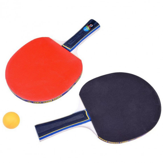 Set na stolný tenis Inlea4Fun PING PONG BALLS - 2 rakety + 3 lopty + sieťka