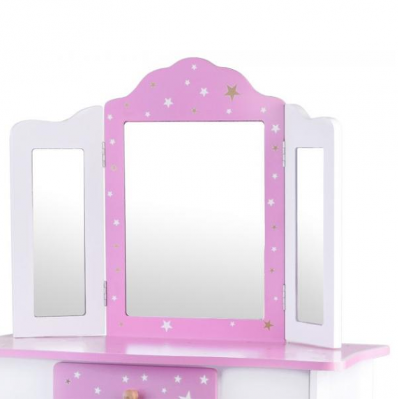 Detský toaletný stolík Inlea4Fun ZA3718 - biely/ružový