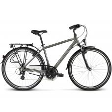 """KROSS Trekking Pánsky bicykel Trans 2.0 17"""" S 2020 - lesklý grafitovo šedý / sivý / strieborný Preview"""
