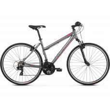 """KROSS Bicykel EVADO 1.0 19"""" DL 2021 - matný grafitovo šedý / malinový Preview"""