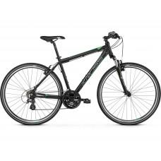 """KROSS Cross Pánsky bicykel Evado 2.0 21"""" L 2021 - matný čierny / zelený Preview"""