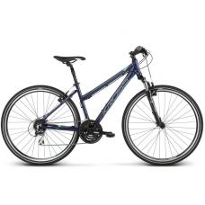 "KROSS Cross Bicykel Evado 3.0 19"" DL 2019 - lesklý tmavomodrý / zelený Preview"