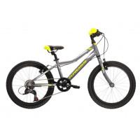 """Detský bicykel HEXAGON MINI 1.0 SR 11"""" 2022 KROSS - lesklý grafitový/limetkový/strieborný"""