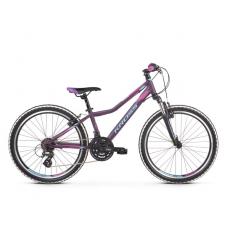 """KROSS  Junior Detský bicykel Lea Jr 2.0 12"""" 2019 - matný fialový / modrý / ružový Preview"""