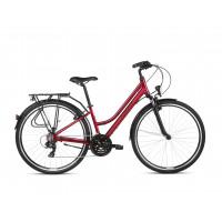 "KROSS Trekking Dámsky bicykel Trans 1.0 19"" DL 2021 - lesklý červený/čierny"