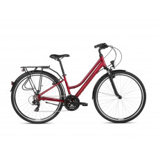 "KROSS Trekking Dámsky bicykel Trans 1.0 19"" DL 2021 - lesklý červený/čierny Preview"