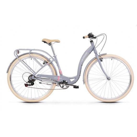 """Dámsky mestský bicykel Lille 2 19"""" L 2022 LE GRAND Utility - lesklý sivý"""