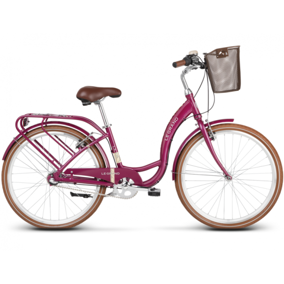 """LE GRAND Utility Dámsky mestský bicykel Lille 3 15"""" S 2020 - lesklý ružový"""