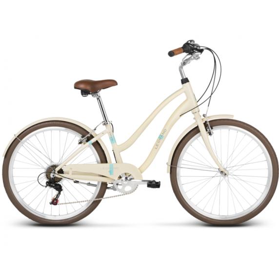"""LE GRAND Comfort Dámsky mestský bicykel Pave 1 14"""" S 2019 - lesklý krémový"""