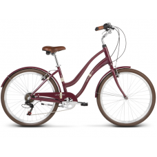 """LE GRAND Comfort Dámsky mestský bicykel Pave 1 14"""" S 2019 - lesklý čerešňový Preview"""