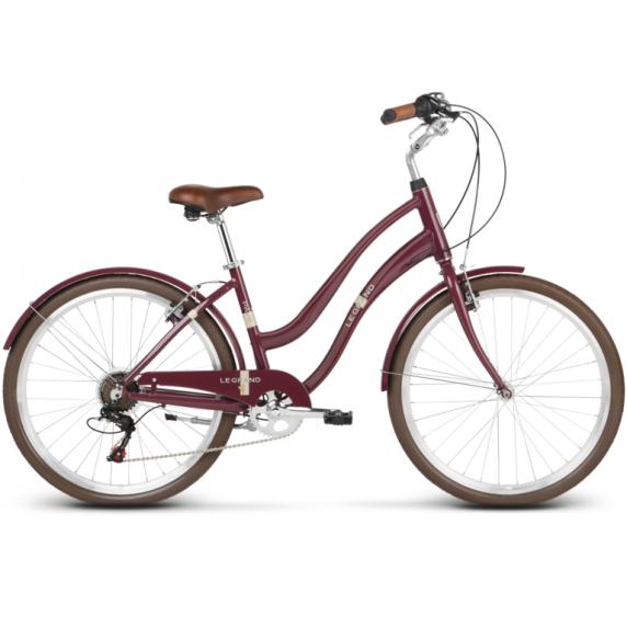 """LE GRAND Comfort Dámsky mestský bicykel Pave 1 14"""" S 2019 - lesklý čerešňový"""