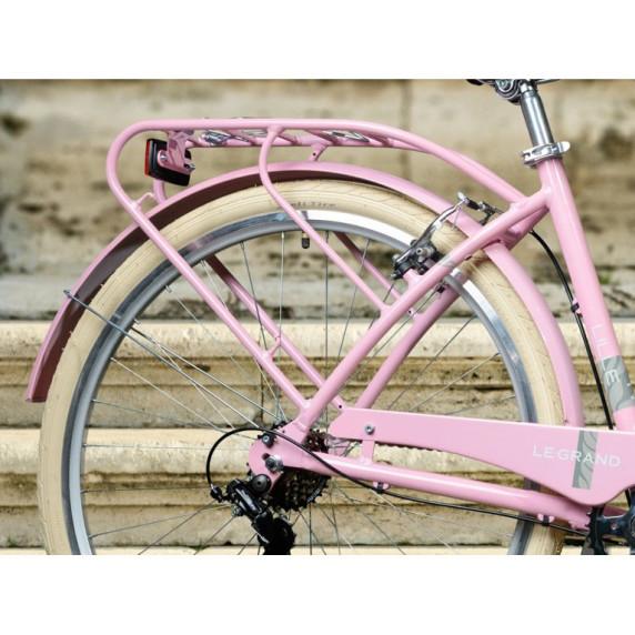 """LE GRAND Utility Dámsky mestský bicykel Lille 2 17"""" M 2021 - lesklý ružový / sivý"""
