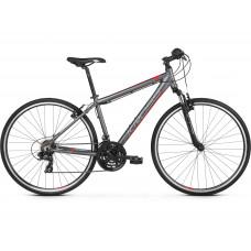 """KROSS Cross Bicykel EVADO 1.0 21"""" L 2021 - matný grafitovo šedý / červený Preview"""