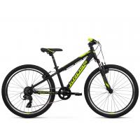 """KROSS  Junior Detský bicykel Dust Jr 1.0 12"""" 2020 - matný čierny / limetkový"""