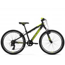 """KROSS  Junior Detský bicykel Dust Jr 1.0 12"""" 2020 - matný čierny / limetkový Preview"""