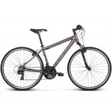 """KROSS Cross Pánsky bicykel Evado 1.0 17"""" S 2020 - matný grafitový / červený Preview"""
