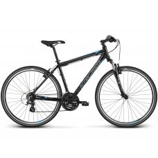 """KROSS Cross Pánsky bicykel Evado 2.0 17"""" S 2020 - čierny / modrý Preview"""