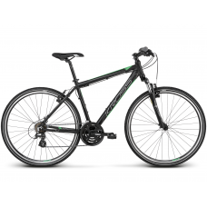"""KROSS Cross Pánsky bicykel Evado 2.0 17"""" S 2020 - matný čierny / zelený Preview"""
