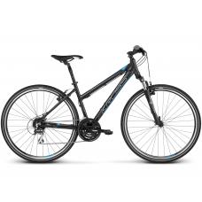 "KROSS Cross Bicykel Evado 3.0 19"" DL 2020 - matný čierny / modrý Preview"