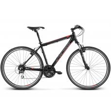 """KROSS Cross Pánsky bicykel Evado 3.0 17"""" S 2020 - čierny / červený Preview"""