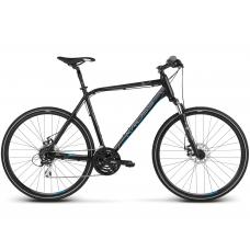 """KROSS Cross Pánsky bicykel Evado 4.0 17"""" S 2020 - matný čierny / modrý Preview"""
