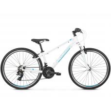 """KROSS  Junior Detský bicykel Evado Jr 1.0 13"""" 2020 - lesklý biely / tyrkysový / modrý Preview"""