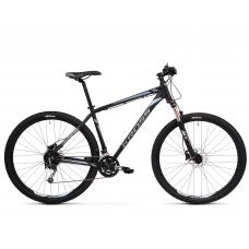 """KROSS MTB Horský bicykel HEXAGON 8.0 15"""" XS - matný čierny / grafitovo šedý / oceľovo modrý Preview"""