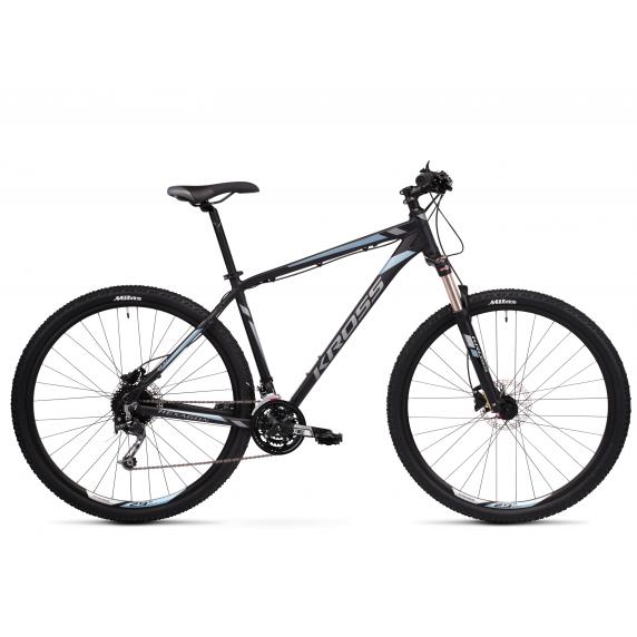"""KROSS MTB Horský bicykel HEXAGON 8.0 15"""" XS - matný čierny / grafitovo šedý / oceľovo modrý"""