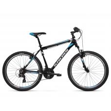 "KROSS MTB Horský bicykel HEXAGON 1.0 14"" XS 2020 - lesklý čierny / biely / modrý Preview"